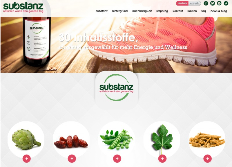 substanz Drink - Natural Vitalizer - StartupBrett