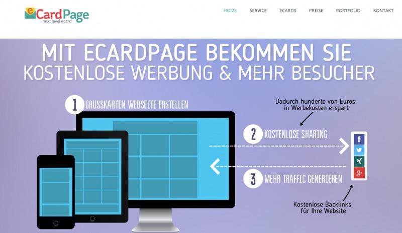 eCardPage - StartupBrett