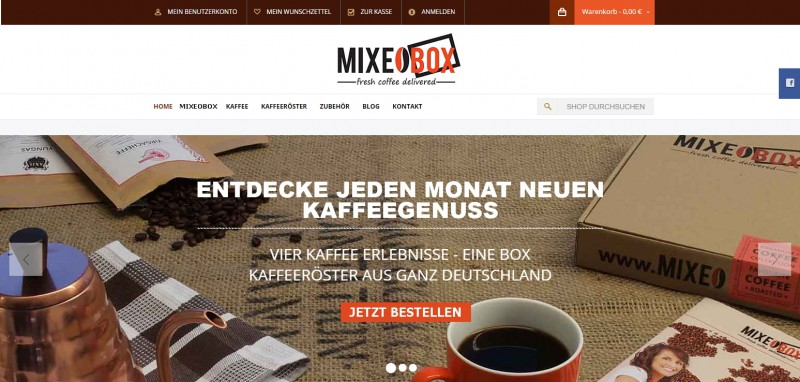 MIXEOBOX - fresh coffee delivered - StartupBrett
