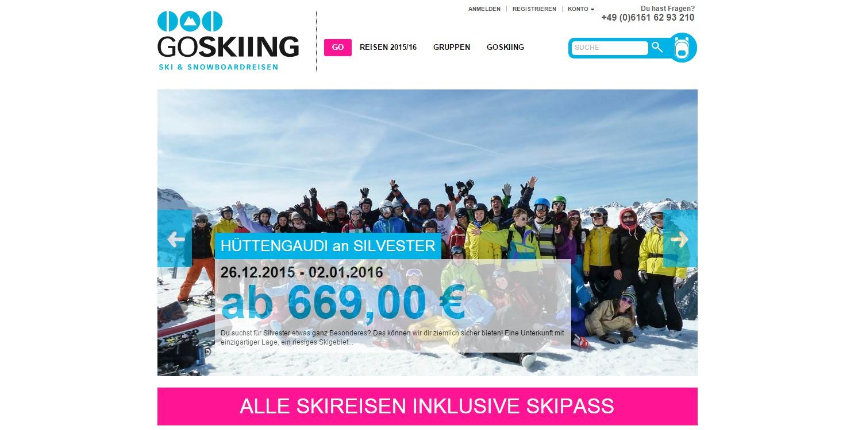 GOSKIING * Ski- & Snowboardreisen - StartupBrett