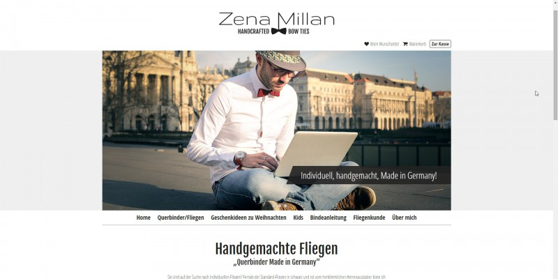 Zena Millan - handcrafted bow ties