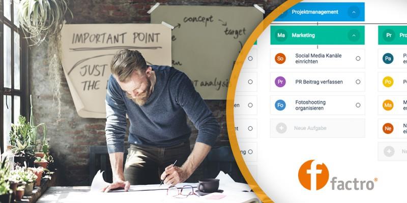 factro: Aufgaben & Projekte im Team organisieren – Online und jederzeit