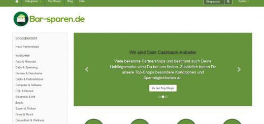 Bar-Sparen.de - Dein Cashback-Anbieter