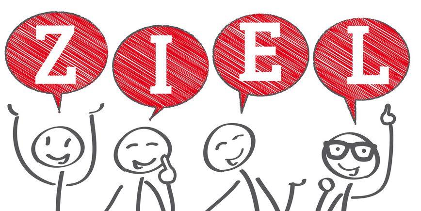Ziel, Ziele, erreichen, Motivation, Teamarbeit, zusammen, Zusammenhalt, Teambesprechung, Besprechung Austausch, Kommunikation, Ideen, Kreativität, Lösung, Problemlösung, Gespann, Sprechblasen, Gemeinschaft, gemeinschaftlich, Unterstützung, Beratung, vereint, miteinander, kollektiv, kollegial, kooperativ, Kooperation, trueffelpix, Geschäft, Strichmännchen