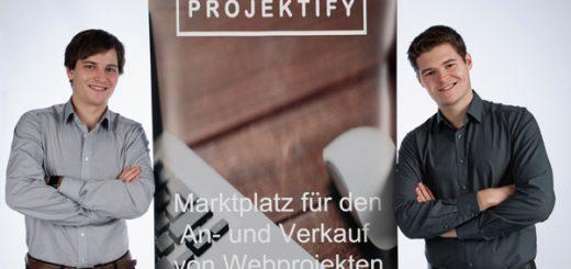 Projektify - Marktplatz für An- und Verkauf von Webprojekten, Startups und Unternehmen