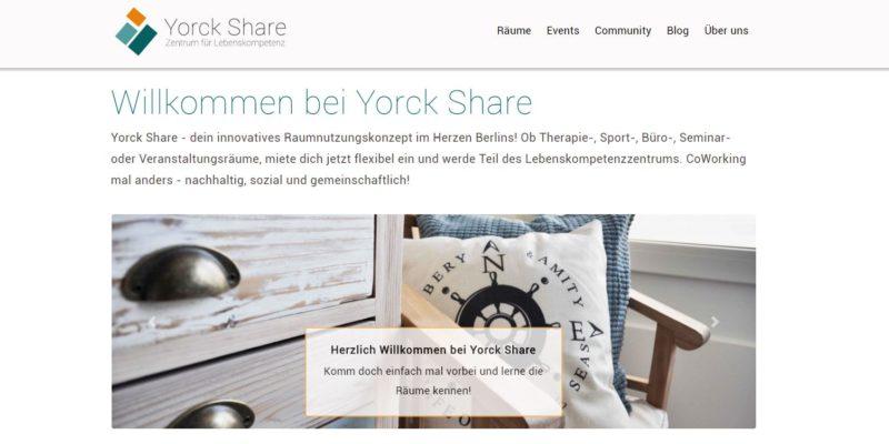 Yorck Share – Zentrum für Lebenskompetenz