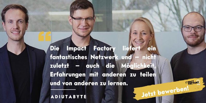 Impact Factory – Bewerbungsphase für Batch 4 gestartet!