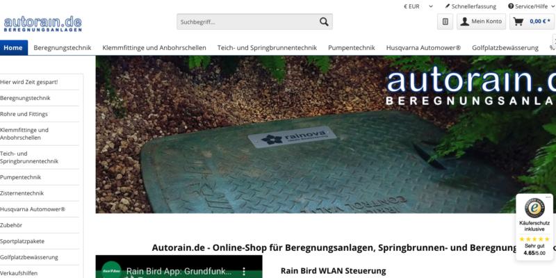 Autorain.de – Online-Shop für Beregnungsanlagen, Springbrunnen- und Beregnungstechnik