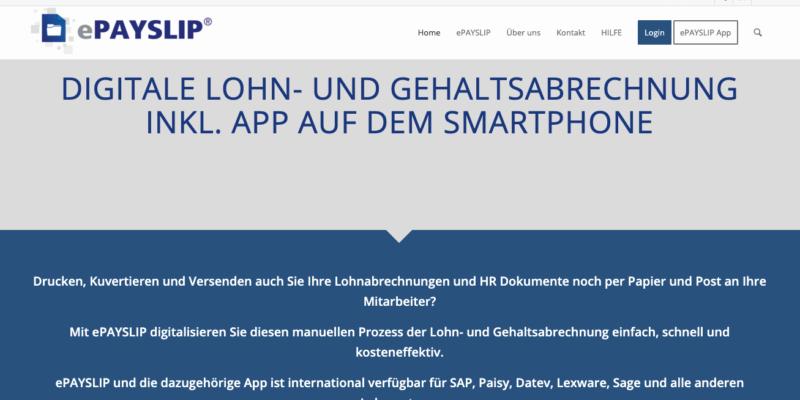 ePAYSLIP – Digitale Lohn- und Gehaltsabrechnung inkl. App